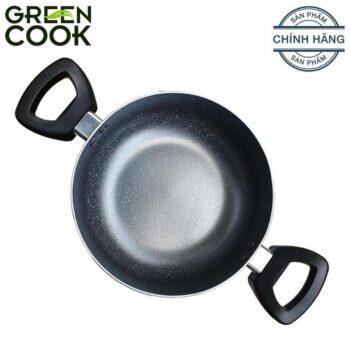 Nồi nhôm vân đá chống dính Green Cook GCS03-20 20 cm màu xám