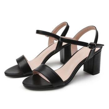 Giày cao gót nữ gót vuông quai ngang
