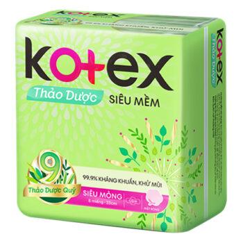 Băng vệ sinh Kotex thảo dược có cánh