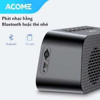 Loa Bluetooth Acome A5 Kiêm Đồng Hồ Báo Thức