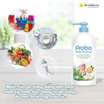 Nước rửa bình sữa và rau quả KHÁNG KHUẨN chiết xuất thực vật PROBO
