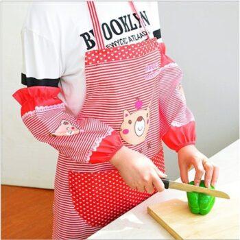 Tạp dề, yếm nấu ăn học vẽ có lót tay