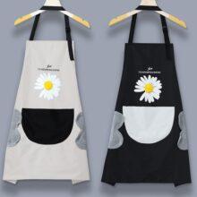 Tạp dề nấu ăn chống thấm nước họa tiết hoa cúc