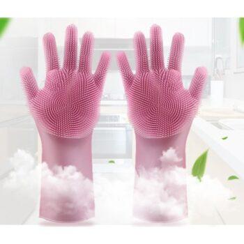 Găng tay rửa bát silicon tạo bọt đa năng
