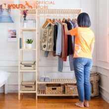 Tủ giá treo quần áo gỗ Double Hanger