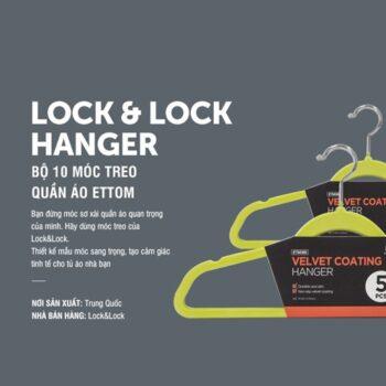 Móc treo quần áo chống trượt Lock&Lock