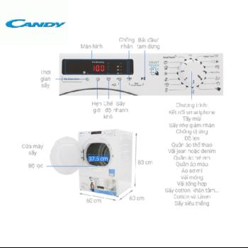 Máy sấy Candy 9 kg CS V9DF-S
