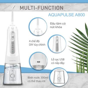 Máy tăm nước du lịch cao cấp Aquapulse A800