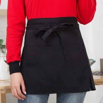 Tạp dề ngắn màu đen truyền thống