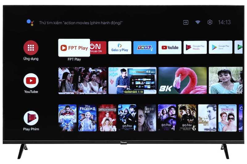 TV Vsmart chạy hệ điều hành Android quen thuộc