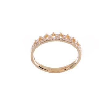 Nhẫn vàng DOJI cao cấp 14K 0819R-LAL342