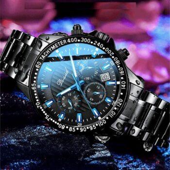 Đồng hồ nam DIZIZID dây thép đen cá tính