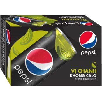 Thùng nước ngọt Pepsi 24 lon không calo 330ml
