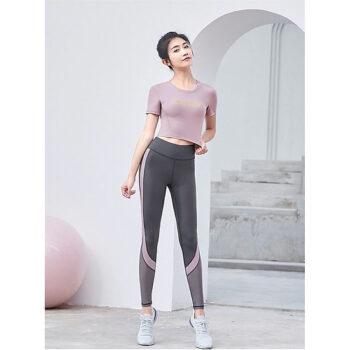 Sét đồ tập Yoga, Gym, Aerobic cao cấp quần cạp cao, áo có kèm đệm mút