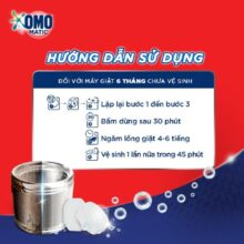 Viên vệ sinh máy giặt OMO