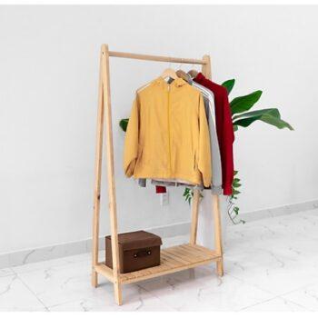 Giá treo quần áo chữa A Hàn Quốc 1 tầng màu gỗ cao 1m47, A Hanger 1F