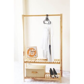 Giá treo quần áo bằng gỗ thông OCHU – A Hanger 2F