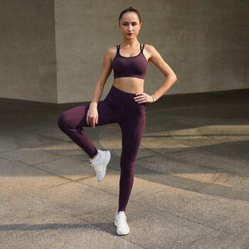 Set đồ tập Yoga Gym nữ quần lưng cao tôn dáng mã H119