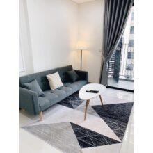 Ghế sofa bed có tay, sofa giường xám xanh 1m9x90 SBCT18