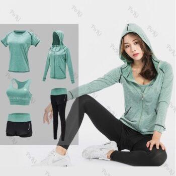 Bộ quần áo thể thao nữ tập Gym Yoga 5in1 POKI