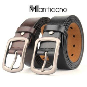 Thắt lưng nam Manticano da bò thật