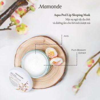 Mặt Nạ Ngủ Môi Mamonde Aqua Peel Lip Sleeping Mask