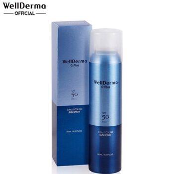Xịt Chống Nắng WellDerma G Plus Cooling Sun Spray