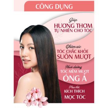Xịt dưỡng tóc tinh dầu hữu cơ Hoa Anh Đào/Vỏ Bưởi 24Care