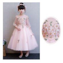 Váy công chúa cao cấp thêu hoa hồng DBG011