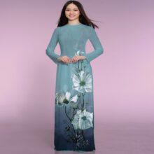 Vải áo dài Thái Tuấn hoa văn in ASBR533-237-CHL