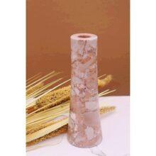 Bình hoa đá tự nhiên màu hồng BH29511H
