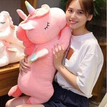 Gấu bông ôm cho bé hình ngựa Pony hồng