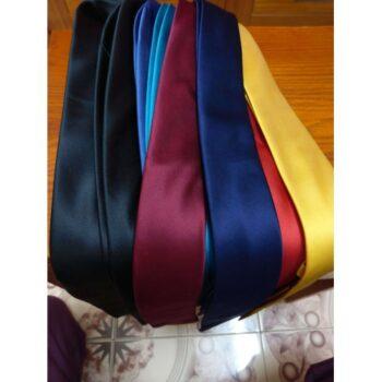 Cà vạt bản nhỏ xanh dương cao cấp