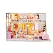 Nhà búp bê ngôi nhà màu hồng mơ ước