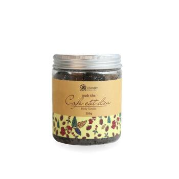 Combo trị mụn lưng Cỏ Mềm – Muối tắm Cafe cốt dừa & Xà bông tinh than tre