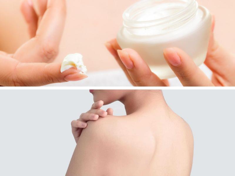 Lựa chọn kem trị mụn lưng có thành phần hỗ trợ cấp ẩm giúp cho làn da mịn màng