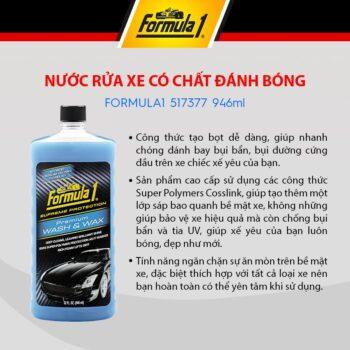 Nước rửa xe có chất đánh bóng Formula 1