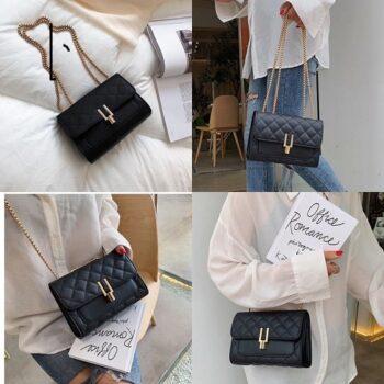 Túi đeo chéo, túi da nữ khóa bút chì Laceva TS03