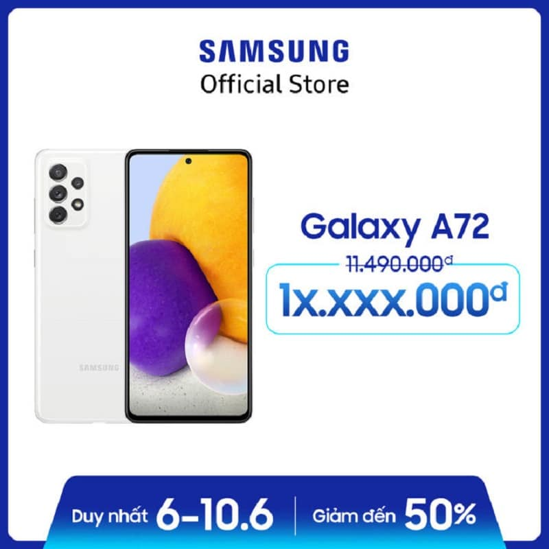 Điện thoại Samsung Galaxy A72