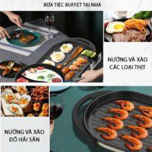 Bếp lẩu nướng đa năng 2 trong 1 Liven SK-J6860