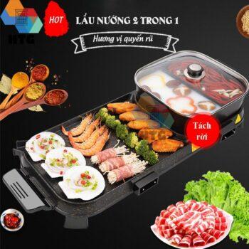 Bếp lẩu nướng 2 trong 1 Suncojia LW-1702D