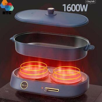 Bếp lẩu nướng điện 3 trong 1 Bear DHG-C40B1