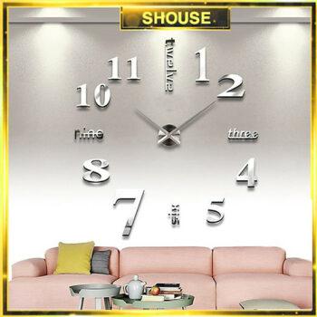 Đồng hồ treo tường dạng dán 3D  Shouse