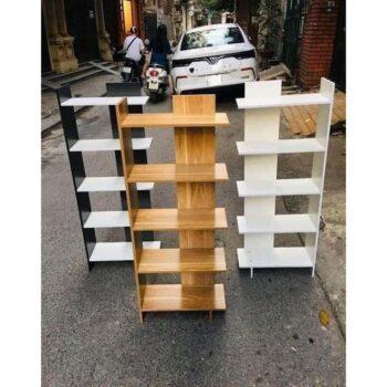 Kệ sách gỗ 5 tầng lắp ghép tiện lợi