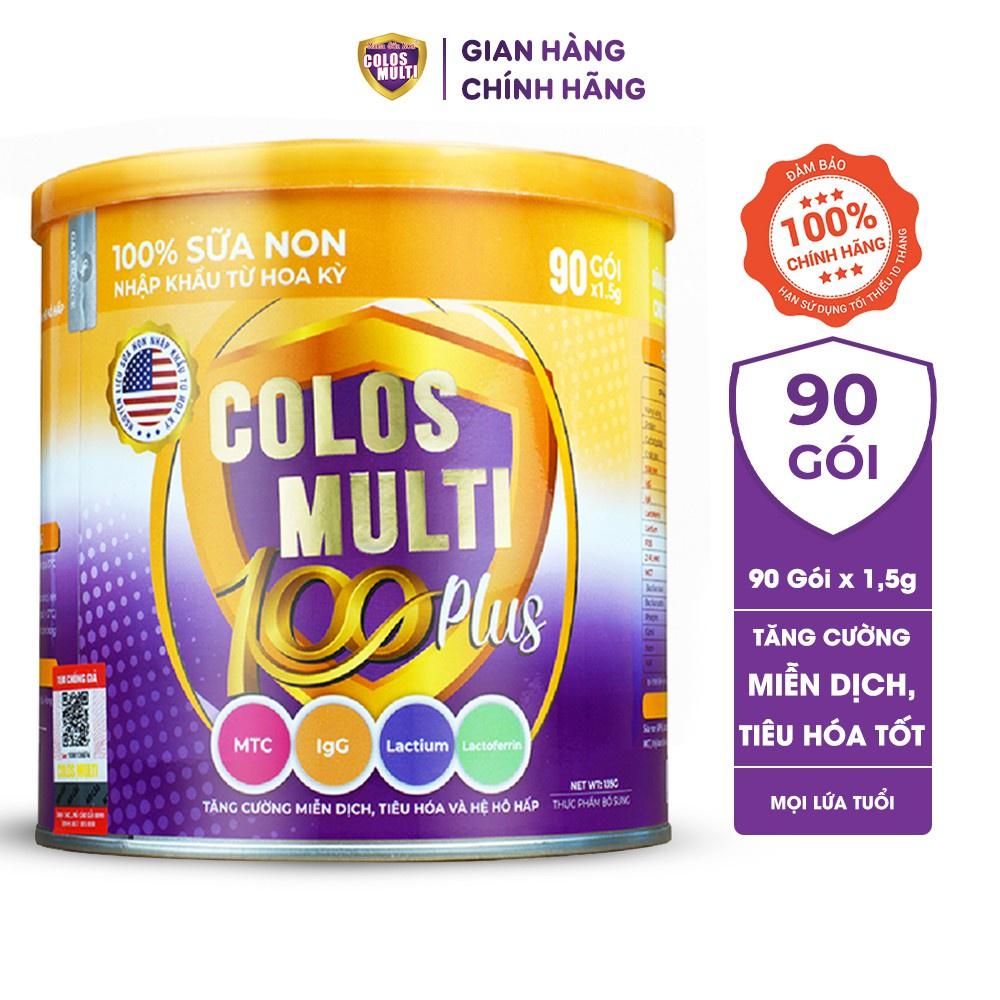 Thiết kế bao bì của sữa Colos Multi 100 Plus (dạng lon)