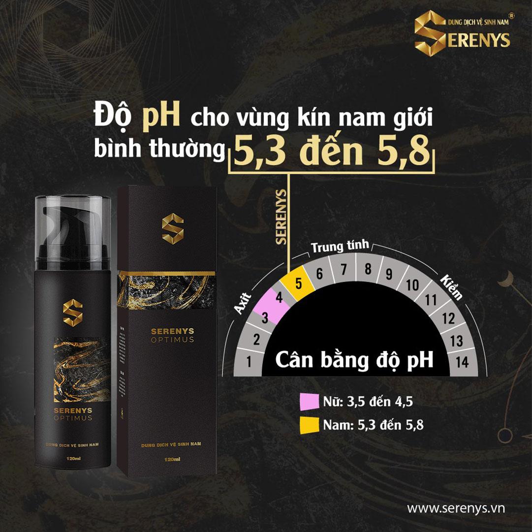 Dung dịch vệ sinh nam Serenys giúp cân bằng độ pH